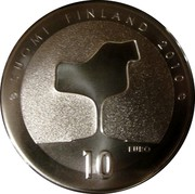 Finland 10 Euro Eero Saarinen 2010 K KM# 151 SUOMI FINLAND 2010 10 EURO coin reverse