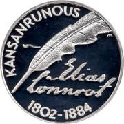 Finland 10 Euro Elias Lonnrot 2002 M M-M KM# 108 ELIAS LÖNNROT KANSANRUNOUS 1802-1884 coin obverse