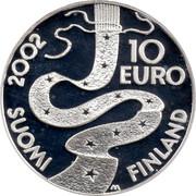 Finland 10 Euro Elias Lonnrot 2002 M M-M KM# 108 10 EURO 2002 SUOMI - FINLAND M coin reverse