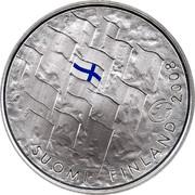 Finland 10 Euro Finnish Flag 2008 K KM# 140 SUOMI FINLAND 2008 K coin obverse
