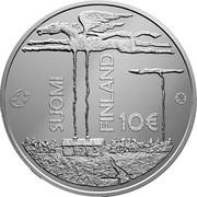 Finland 10 Euro Frans Eemil Sillanpaa 2013 Proof KM# 201 SUOMI FINLAND 10€ coin obverse