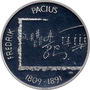 Finland 10 Euro Frederik Pacius 2009 M KM# 148 FREDRIK PACIUS 1809-1891 M coin reverse