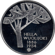 Finland 10 Euro Hella Wuolijok 2011 P KM# 165 HELLA WUOLIJOKI 1886 1954 N coin obverse