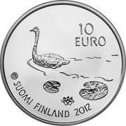 Finland 10 Euro Henrik Wigstrom 2012 M Proof KM# 179 10 EURO SUOMI FINLAND 2012 coin obverse