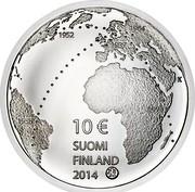 Finland 10 Euro Ilmari Tapiovaara 2014 Proof KM# 219 1952 10 EURO SUOMI FINLAND 2014 K coin obverse