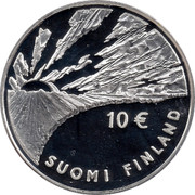 Finland 10 Euro Johan Vilhelm Snellman 2006 K-M KM# 124 10 € SUOMI - FINLAND coin obverse