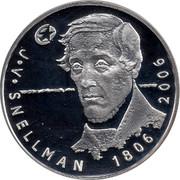 Finland 10 Euro Johan Vilhelm Snellman 2006 K-M KM# 124 J. V. SNELLMANE 1806 - 2006 coin reverse