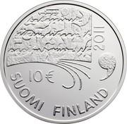 Finland 10 Euro Juhani Aho 2011 P KM# 168 2011 10 € SUOMI FINLAND coin obverse