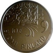 Finland 10 Euro Juhani Aho 2011 P Proof KM# 168a 2011 10€ SUOMI FINLAND coin obverse