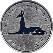 Finland 10 Euro Mika Waltari 2008 P KM# 142 SUOMI FINLAND 2008 10 € coin obverse