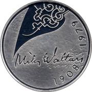 Finland 10 Euro Mika Waltari 2008 P KM# 142 MIKA WALTARI 1908 - 1979 coin reverse