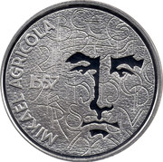 Finland 10 Euro Mikael Agricola 2007 P KM# 136 MIKAEL AGRICOLA 1557 coin obverse