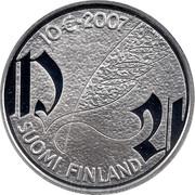 Finland 10 Euro Mikael Agricola 2007 P KM# 136 10 € SUOMI FINLAND coin reverse