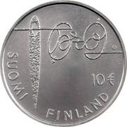 Finland 10 Euro Minna Canth 2010 P KM# 152 SUOMI FINLAND 10 € coin obverse