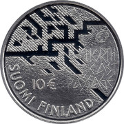 Finland 10 Euro Nordenskiold 2007 M P KM# 134 NORTH EAST PASAVT 10 € SUOMI FINLAND coin obverse
