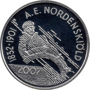 Finland 10 Euro Nordenskiold 2007 M P KM# 134 A.E. NORDENSKIÖLD 1832-1901 2007 coin reverse