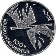 Finland 10 Euro Parlimentary Reform 2006 M M-M KM# 132 100 V EDUSKUNTAUUDISTUS 2006 M coin obverse