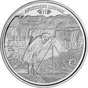 Finland 10 Euro Pehr Kalm 2011 V Proof KM# 167 APOSTOLVS LINNAEI 10 € PEHR KALM 1716-1779 coin reverse