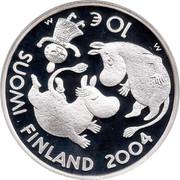 Finland 10 Euro Tove Jansson 2004 M-M KM# 116 SUOMI FINLAND M 10 € M 2004 coin obverse
