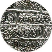 Finland 10 Markkaa 1970 S-H KM# 51 Reform Coinage coin reverse