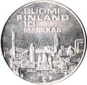 Finland 10 Markkaa 1971 S-H KM# 52 Reform Coinage coin reverse