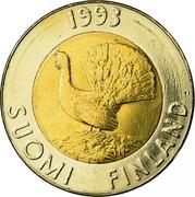 Finland 10 Markkaa 1993 M KM# 77 Reform Coinage DATE SUOMI FINLAND coin obverse