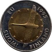 Finland 10 Markkaa 1995 M Proof KM# 82a Reform Coinage EU 1995 SUOMI FINLAND coin obverse