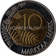 Finland 10 Markkaa 1995 M Proof KM# 82a Reform Coinage coin reverse
