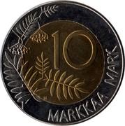 Finland 10 Markkaa 1995 M Proof KM# 82a Reform Coinage 10 MARKKAA MARK coin reverse
