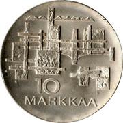 Finland 10 Markkaa 50th Anniversary of Independence 1967 S-H KM# 50 S 10 H MARKKAA coin reverse
