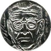 Finland 10 Markkaa 7th President Paasikivi 1970 S-H KM# 51 J.K.PAASIKIVI 27.11.1870 - 14.12.1956 coin obverse
