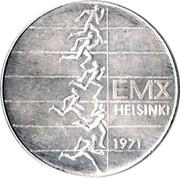 Finland 10 Markkaa Athletic Championships 1971 S-H KM# 52 EMX HELSINKI 1971 coin obverse