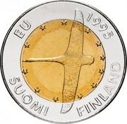 Finland 10 Markkaa European Unity 1995 M KM# 82 EU 1995 SUOMI FINLAND coin obverse