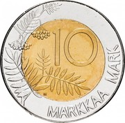 Finland 10 Markkaa European Unity 1995 M KM# 82 10 MARKKAA MARK M coin reverse