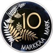Finland 10 Markkaa Finnland's Presidency of EU 1999 KM# 91a 10 MARKKAA MARK coin reverse