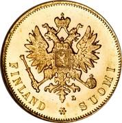 Finland 10 Markkaa Wide eagle 1905 L KM# 8.2 FINLAND SUOMI coin obverse