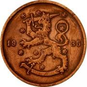 Finland 10 Pennia 1935 KM# 24 Decimal Coinage DATE coin obverse