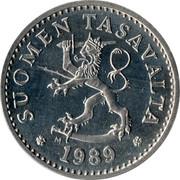 Finland 10 Pennia 1989 M KM# 46a Reform Coinage SUOMEN TASAVALTA DATE coin obverse