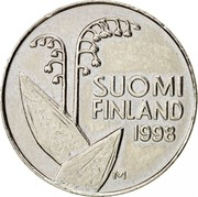 Finland 10 Pennia 1998 M Proof KM# 65 Reform Coinage SUOMI FINLAND DATE coin obverse