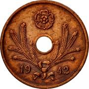 Finland 10 Pennia Hole center 1942 KM# 33.1 DATE coin obverse