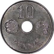 Finland 10 Pennia Hole center 1944 KM# 34.1 10 PENNIÄ coin reverse