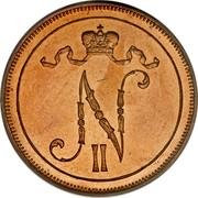 Finland 10 Pennia Nikolai II 1912 KM# 14 N II coin obverse