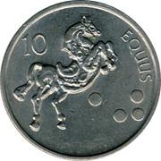 Slovenia 10 Tolarjev 2001 KM# 41 Standart Coinage 10 EQUUS coin reverse
