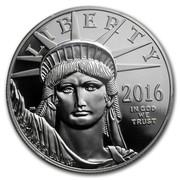 USA $100 American Eagle 2016 W KM# 652 LIBERTY 2016 IN GOD WE TRUST E PLURIBUS UNUM coin obverse