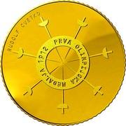 Slovenia 100 Euro 1st Slovene Olympic Medalist 2012 Proof KM# 111 RUDOLF CVETKO PRVA OLIMPIJSKA MEDALJA 1912 coin reverse