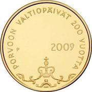 Finland 100 Euro 200th Anniversary - Diet of Porvoo 2009 P Proof KM# 145 PORVOON VALTIOPÄIVÄT 200 VUOTTA P 2009 coin reverse