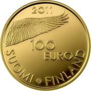Finland 100 Euro 200th Anniversary of the Bank of Finland 2011 V Proof KM# 164 2011 100 EURO SUOMI FINLAND coin obverse