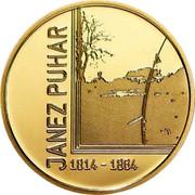 Slovenia 100 Euro 200th Birth anniversary inventor Janez Puhar 2014 Proof KM# 120 JANEZ PUHAR 1814 - 1864 coin reverse