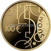 Finland 100 Euro 2010 P Proof KM# 150 Euro Coinage coin obverse