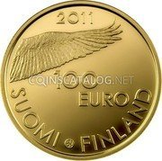 Finland 100 Euro 2011 V Proof KM# 164 Euro Coinage coin obverse
